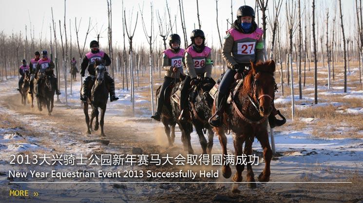 2013大兴骑士公园新年赛马大会取得圆满成功