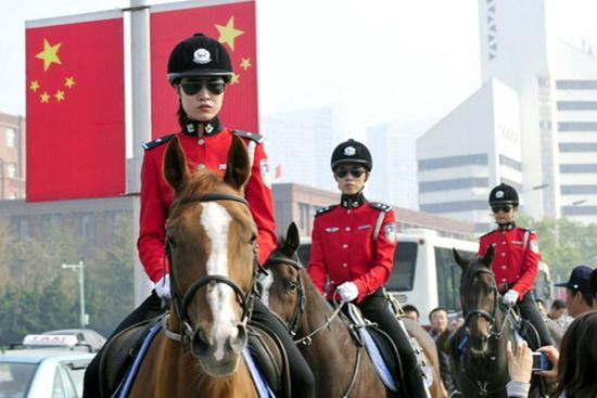 大连退休警察建议取消女骑警 申请公开养马成本