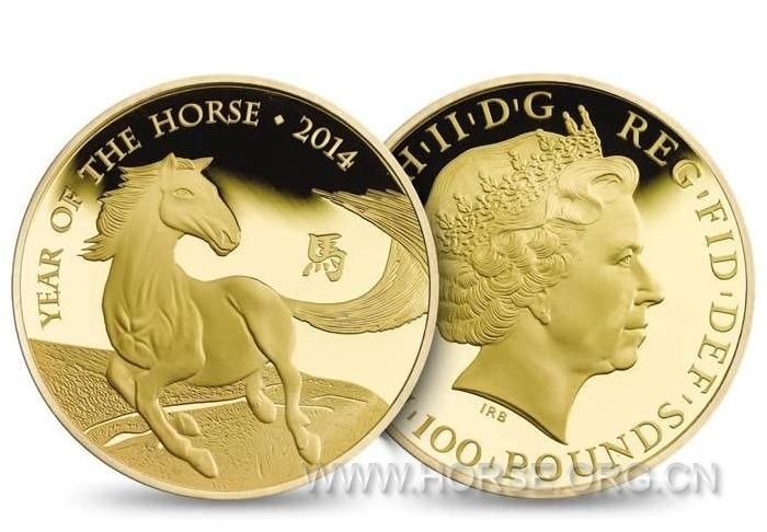 英国:发行首枚马年纪念币 由华裔艺术家设计